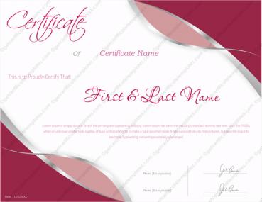 Award Certificate Template 142