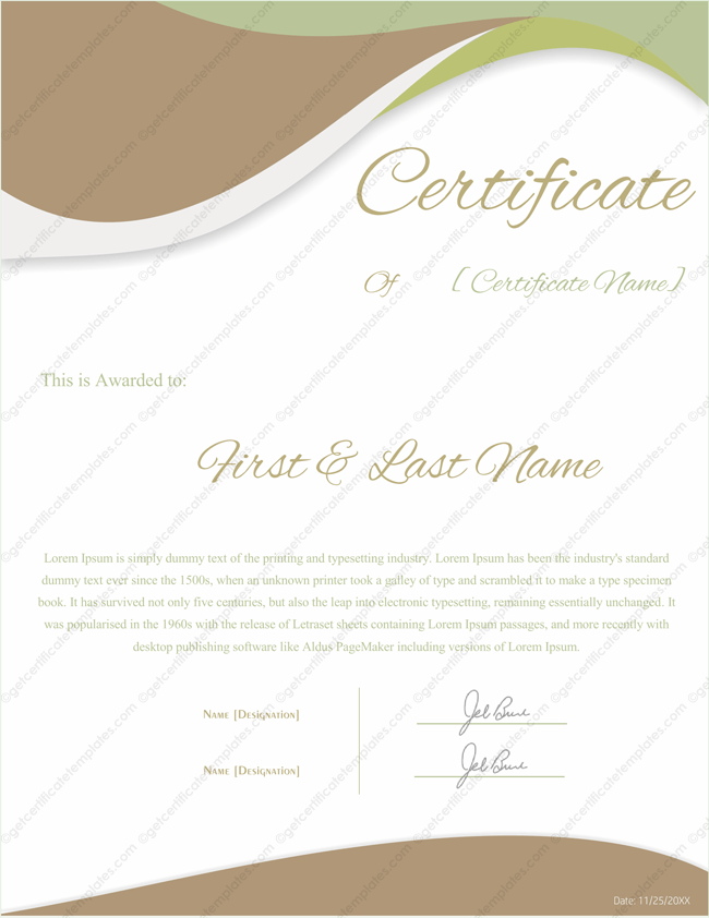 download certificate templates