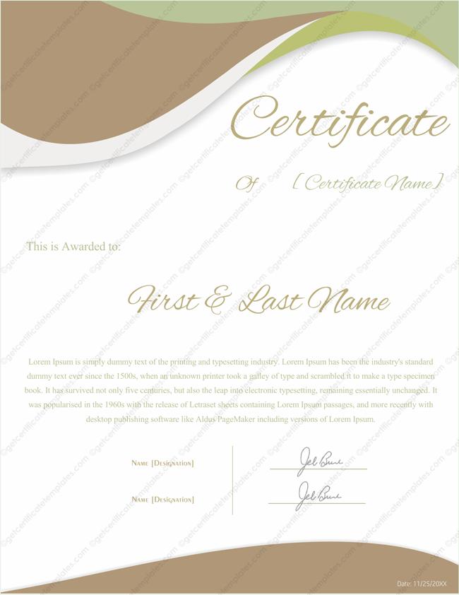 Award Certificate Templates Certificate Templates – Recognition Certificate Template