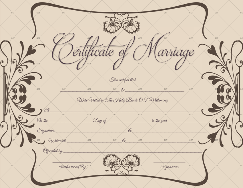 Create a Marriage Certificate FREE UK