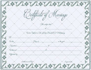 Fill able Marriage Certificate Template Microsoft Word