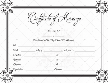 Fake marriage certificate format free download