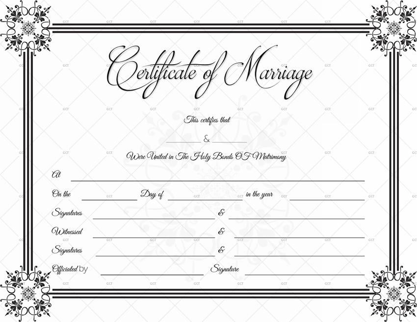 This is an image of Dramatic Free Marriage Certificate Template