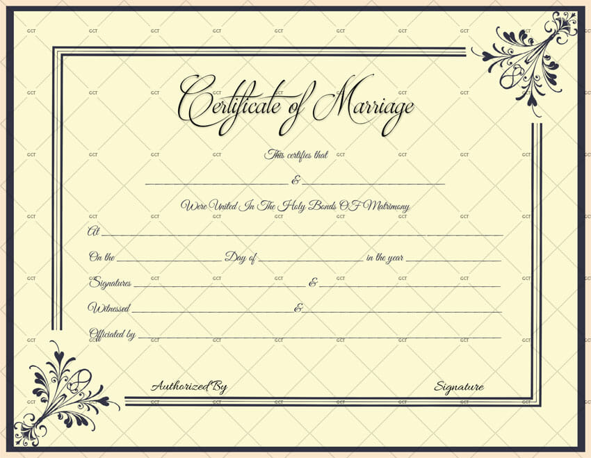 Marriage License Templates