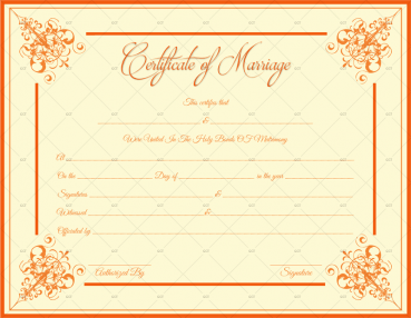 Download Marriage Certificate Template
