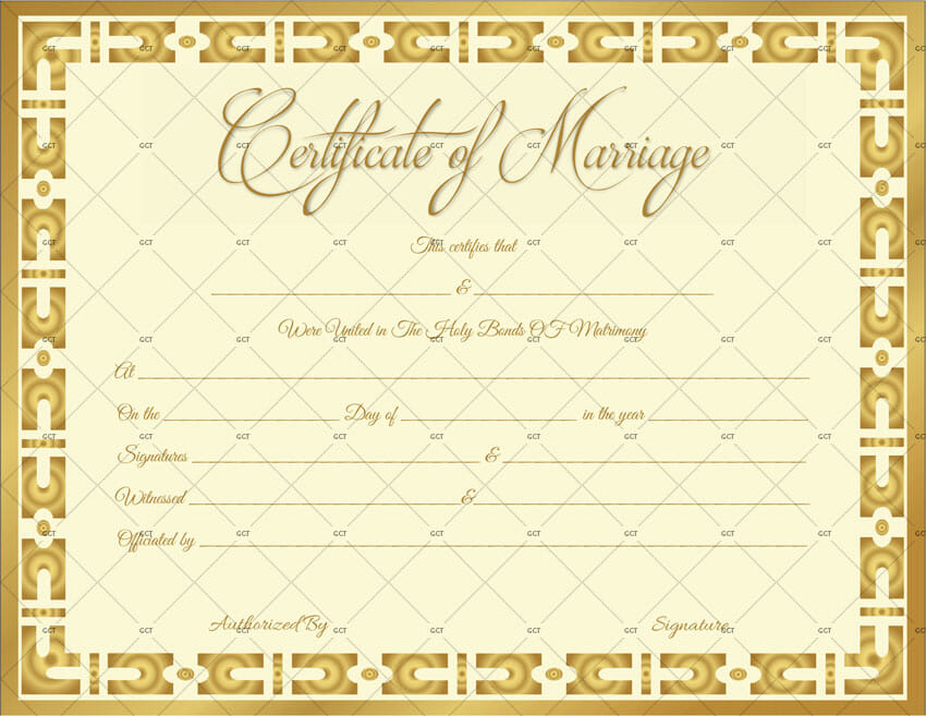Marriage-Certificate-Template-(Gold-Vintage)