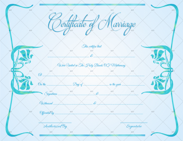 Printable Marriage Certificate for Wedding Free Download Word