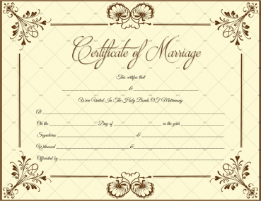 French Marriage Certificate Template for Word