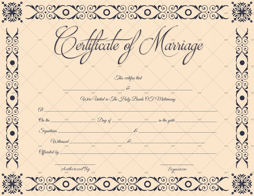 Marriage Certificate Template Microsoft Office Get Certificate