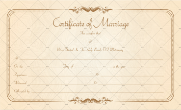 Free Marriage License Template Word