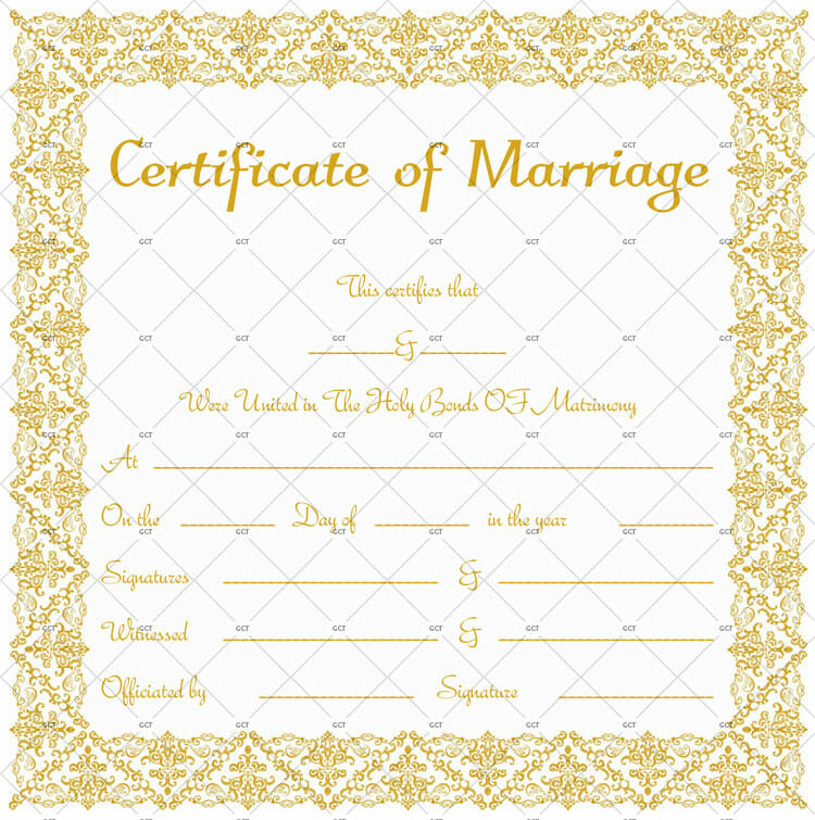 Printable Marriage License Template for Word