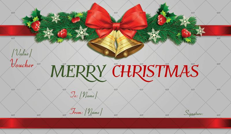 CHRISTMAS GIFT CERTIFICATE (CHRISTMAS BELLS)