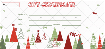 Christmas Certificate (Snow-White Background)