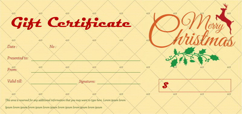 Christmas Gift Certificate (Dotted Background)