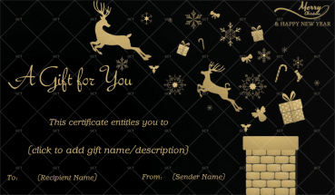 Christmas Gift Certificate (Reindeers in Night)