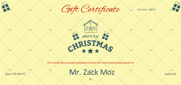 Christmas Gift Certificate (Simple & Sleek)