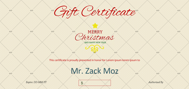 Christmas Gift Certificate (Sleek Design)