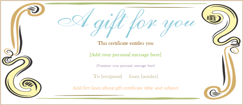Gift Voucher Templates Printable Gift Voucher Designs – Voucher Templates Word