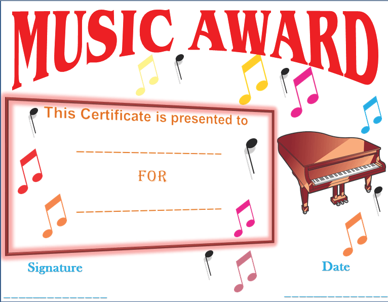 In awe of your music award certificate template yadclub Choice Image