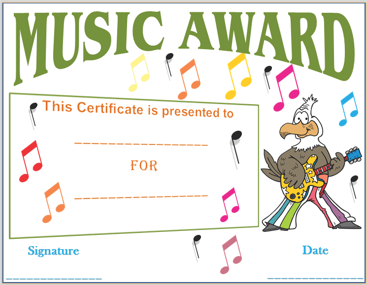 Talent show certificate award template just b cause for Talent show certificate template