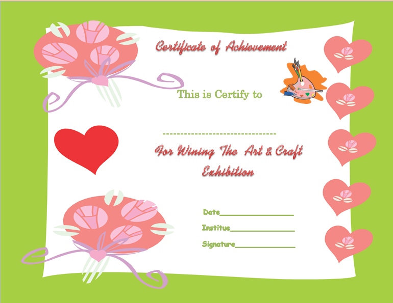 Talented Tenderfoot Award Certificate Template