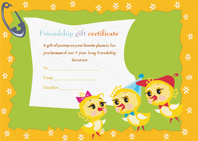 Dancing Ducks Gift Certificate Template