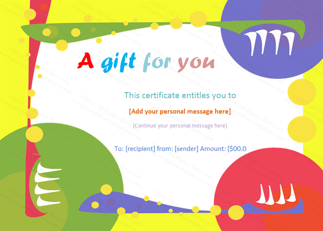 Geometrical Gift Certificate Template