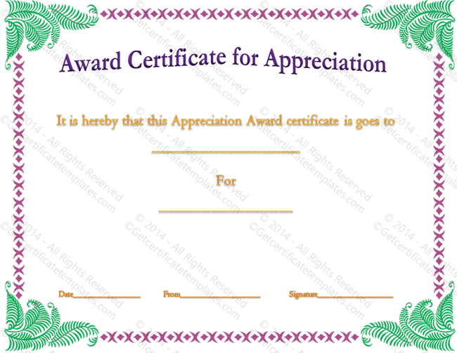 Flowers Whistles and Achievement Award Template