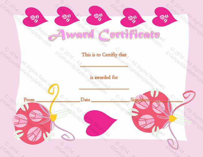 Most Loving Certificate of Appreciation Template