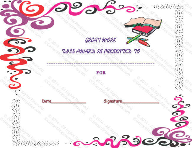 Student Inspiration Certificate Of Appreciation Template