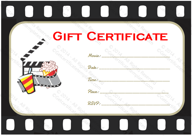 Movie gift certificate template image collections template design go to movie gift certificate template yadclub Choice Image