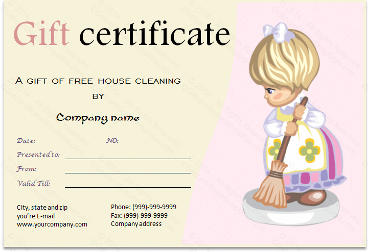 Services gift certificate template cleaning services gift certificate template yelopaper Choice Image
