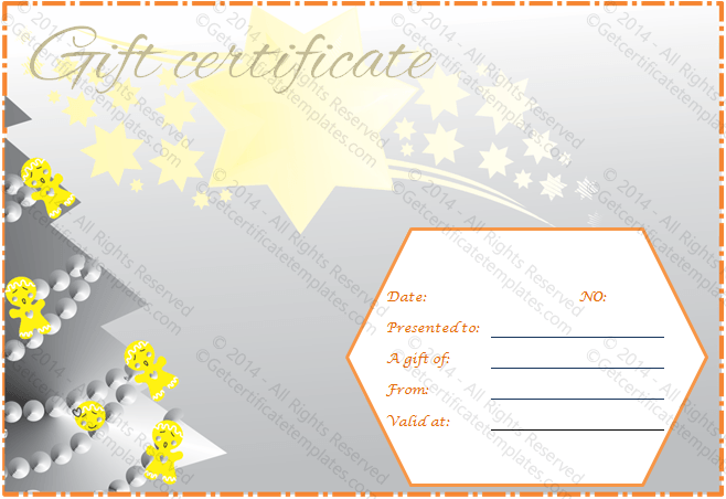 Rising Stars Gift Certificate Template