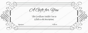 Gift Certificate Template Word  Gift Certificate Template In Word