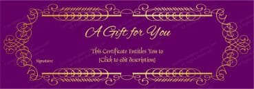 Purple Velvet Gift Voucher Template