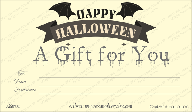 Blank Halloween Gift Certificate Template Word  How To Create A Gift Certificate In Word