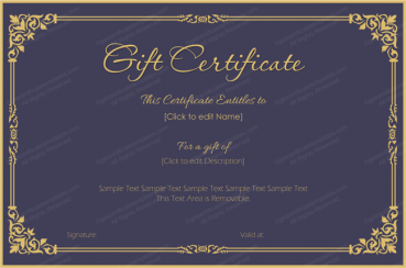 Royal Velvet Gift Certificate Template  How To Create A Gift Certificate In Word