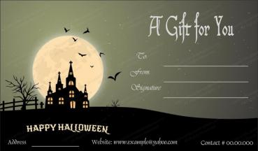 Halloween Gift Card Template 1