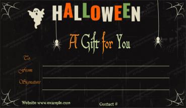 Halloween Gift Certificate Template 4