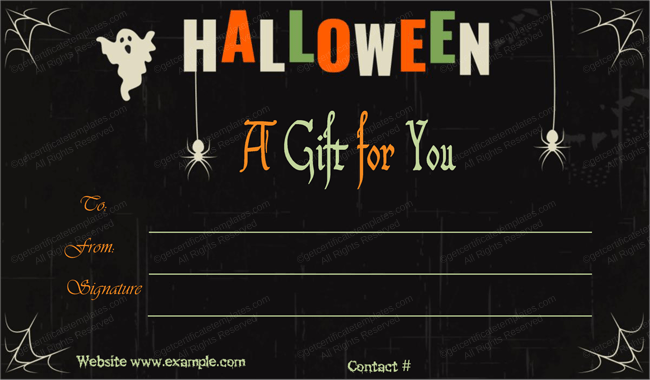 Halloween Gift Certificate Template 4 Certificate Templates