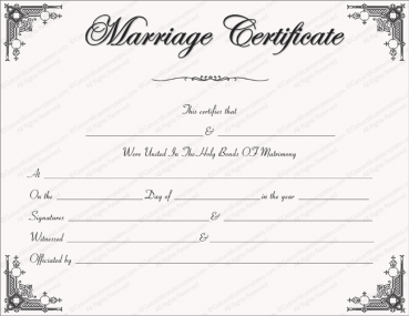 free printable marriage certificate templates editable printable