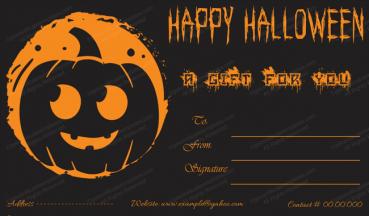 Halloween Gift Certificate Template 1