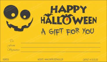 Halloween Gift Certificate Template 3