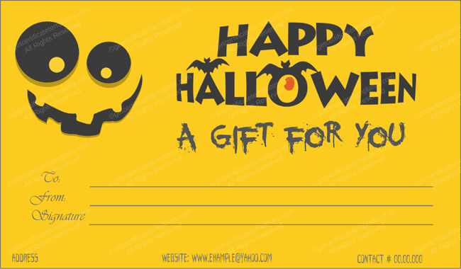 Printable Halloween Certificates