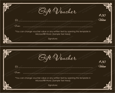 Choco Color Gift Voucher Template