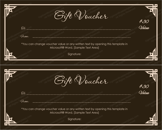 Choco Color Gift Voucher Template Get Certificate Templates