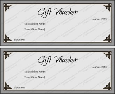 Simple Gray Gift Certificate Template Word  Gift Voucher Certificate Template