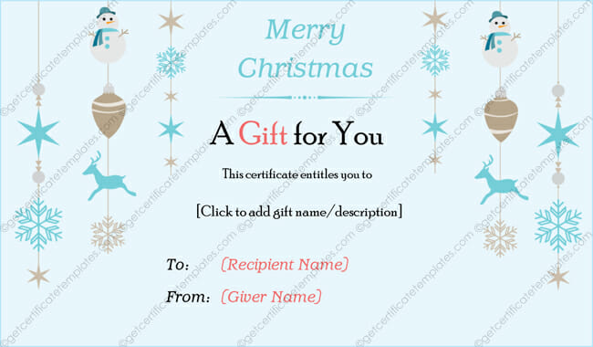 free gift template for christmas