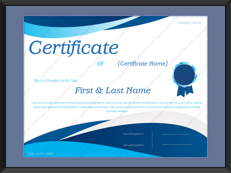 Awesome-award-certificate-template