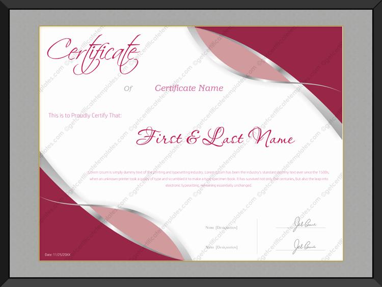 beauty award template
